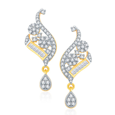 Pissara Engrossing Gold And Rhodium Plated CZ Mangalasutra Set For Women-2