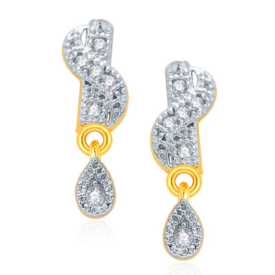 Pissara Breathtaking Gold And Rhodium Plated CZ Mangalasutra Set For Women-2