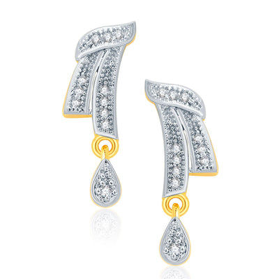 Pissara Angelic Gold And Rhodium Plated CZ Mangalasutra Set For Women-2