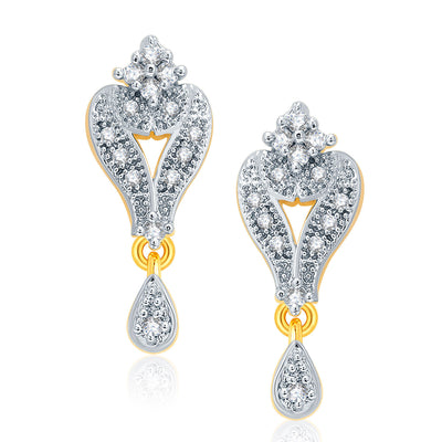 Pissara Glittery Gold And Rhodium Plated CZ Mangalasutra Set For Women-2