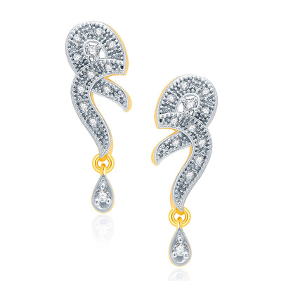 Pissara Glamorous Gold And Rhodium Plated CZ Mangalasutra Set For Women-2