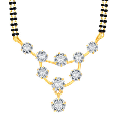 Pissara Incredible Gold Plated CZ Mangalsutra Set For Women-1