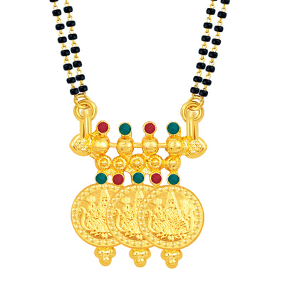 Sukkhi Lavish Laxmi Temple Coin Gold Plated Mangalsutra Set For Women-1