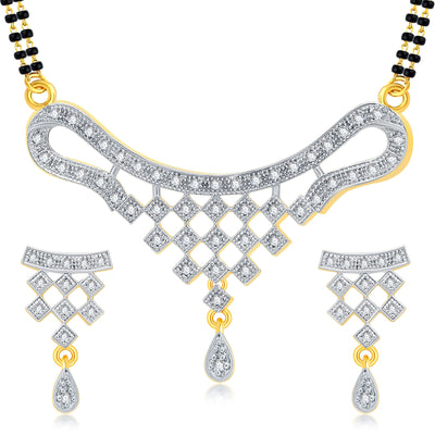 Pissara Sublime Gold Plated CZ Mangalsutra Set For Women