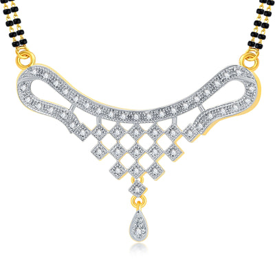 Pissara Sublime Gold Plated CZ Mangalsutra Set For Women-1