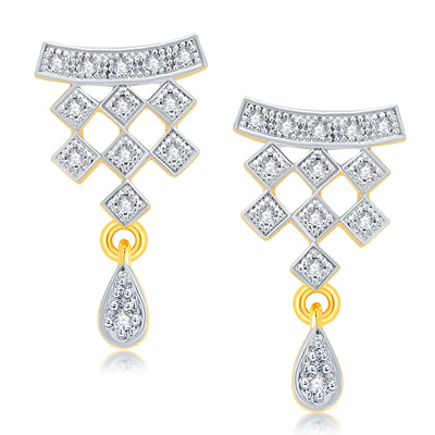 Pissara Sublime Gold Plated CZ Mangalsutra Set For Women-2