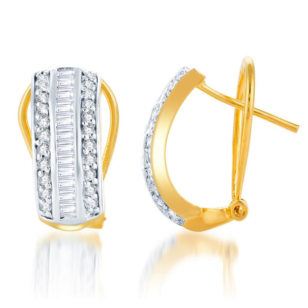 Sukkhi Pretty Gold and Rhodium Plated CZ Earring