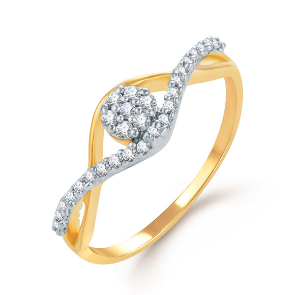 Sukkhi Youthful Gold and Rhodium Plated CZ Ring