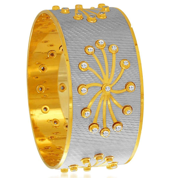 Sukkhi Classic Gold and Rhodium Plated Dancing Kada for Women