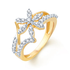 Sukkhi Artistically Crafted Gold and Rhodium Plated CZ Ring