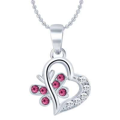 Sukkhi Delightly Heart Rhodium Plated AD Set of 3 Pendant Combo For Women-2