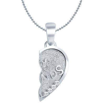 Sukkhi MY FRIENDS Gold and Rhodium Plated 2 in 1 Valentine Broken Heart Pendant with Chain-3