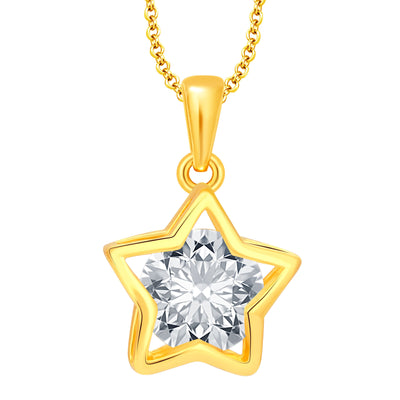 Pissara Trendy Heart Gold Plated CZ Set of 5 Pendant Combo For Women-1
