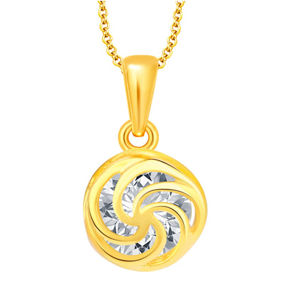 Pissara Trendy Heart Gold Plated CZ Set of 5 Pendant Combo For Women-2