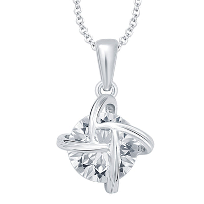 Pissara Magnificent Heart Rhodium Plated CZ Set of 5 Pendant Combo For Women-2