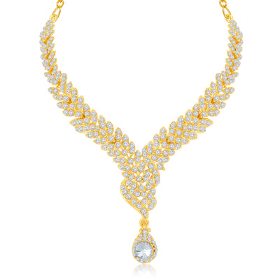 Sukkhi Fine Gold Plated Australian Diamond Stone Studded Necklace Set-1