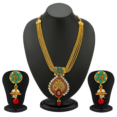 Sukkhi 5 Strings Gold Plated Antique Ball Chain Set