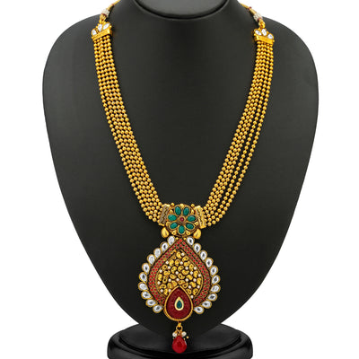 Sukkhi 5 Strings Gold Plated Antique Ball Chain Set-1