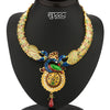 Sukkhi Delightful Gold Plated Australian Diamond Peacock Necklace Set
