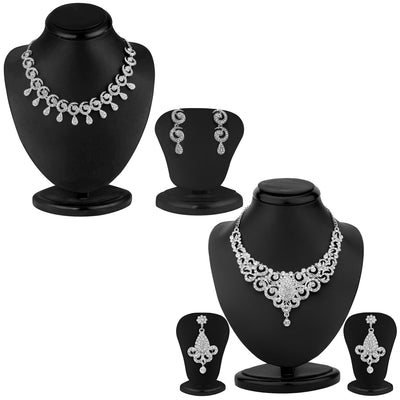 Sukkhi Stylish 2 Piece Necklace Set Combo