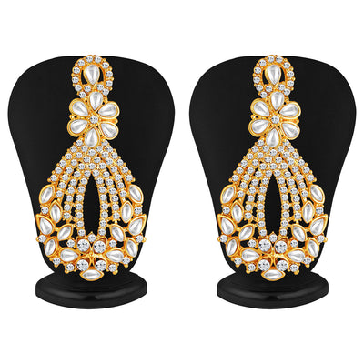 Sukkhi -  Kritika Kamra Dazzling Gold Plated Australian Diamond Wedding Necklace Set-5
