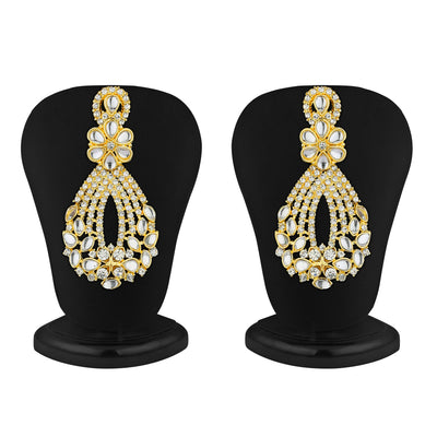 Sukkhi Dazzling Gold Plated Australian Diamond Necklace Set-4