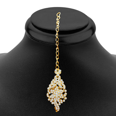 Sukkhi Sleek Gold plated AD Stone Necklace Set-3