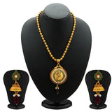 Sukkhi Gleaming Gold Plated Coin Necklace Set for Women