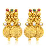 Sukkhi Enchanting Gold Plated Temple Jewellery Coin Necklace Set for Women-5
