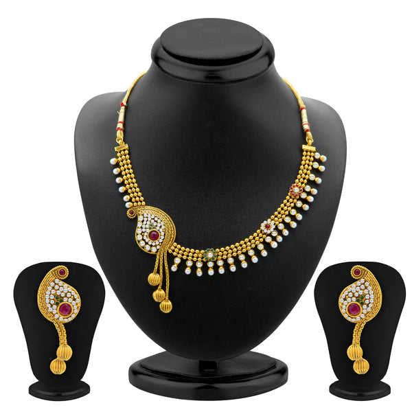 Sukkhi Beguilling Gold Plated Necklace Set for Women