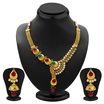 Sukkhi Fine Gold Plated Necklace Set for Women