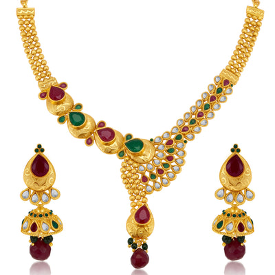 Sukkhi Fine Gold Plated Necklace Set for Women-3