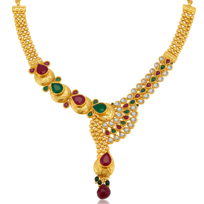 Sukkhi Fine Gold Plated Necklace Set for Women-4