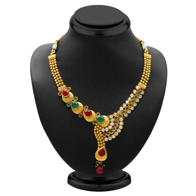 Sukkhi Fine Gold Plated Necklace Set for Women-1