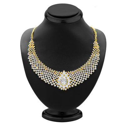 Sukkhi Incredible Gold Plated AD Necklace Set for Women-1