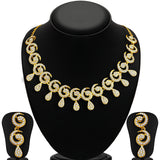 Sukkhi Sublime Gold Plated AD Necklace Set for Women