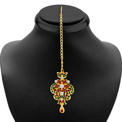Sukkhi Wavy Gold Plated AD Necklace Set-6