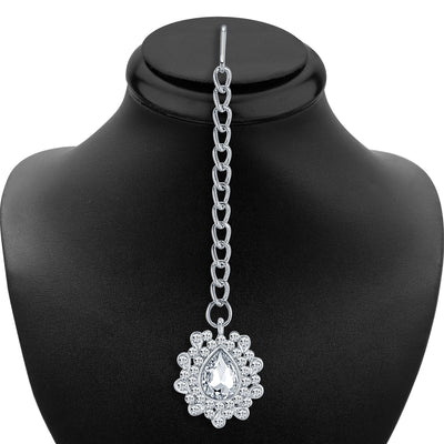 Sukkhi Charming Rhodium Plated AD Necklace Set-6