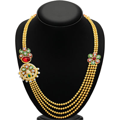 Sukkhi Splendid Four Strings Gold Plated Necklace Set-2