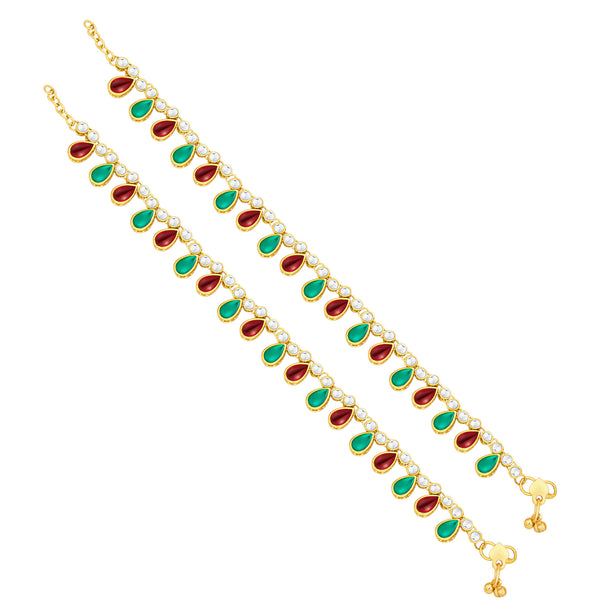 Sukkhi Astonish Gold Plated Anklet For Women