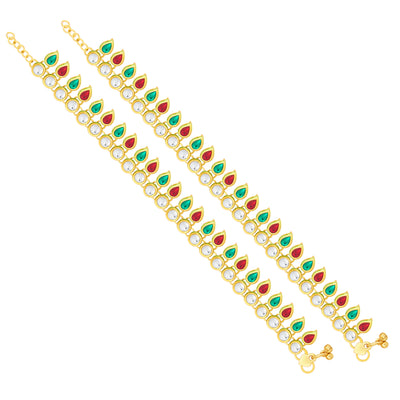 Sukkhi Delightful Gold Plated Anklet For Women