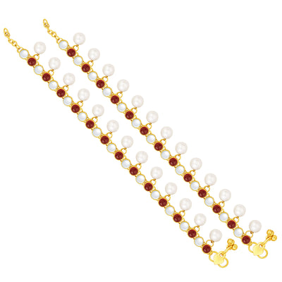 Sukkhi Modern Gold Plated Anklet For Women