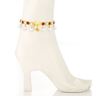 Sukkhi Modern Gold Plated Anklet For Women-1