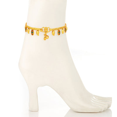 Sukkhi Stylish Gold Plated Anklet For Women-1