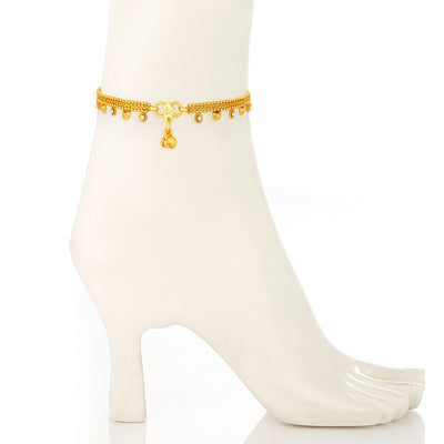 Sukkhi Magnificent Gold Plated Anklet For Women-1