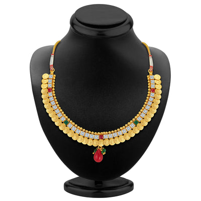 Sukkhi Glorious Gold Plated Temple Jewellery Necklace Set-2