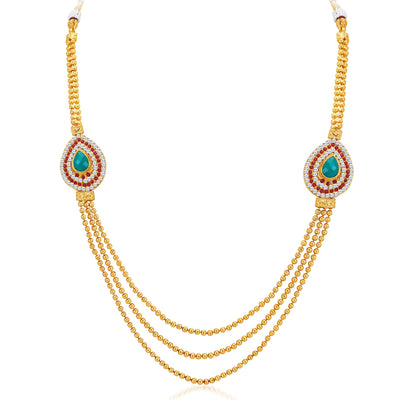 Sukkhi Attractive Three Strings Gold Plated Necklace Set-3