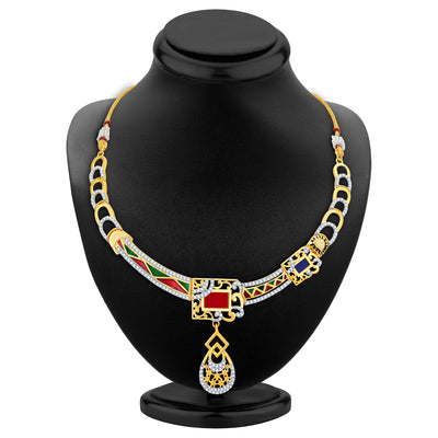 Sukkhi Modish Gold Plated Geometrical Shaped Necklace Set-2