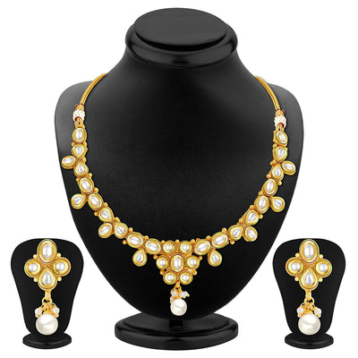 Sukkhi Marvellous Gold Plated Kundan Necklace Set