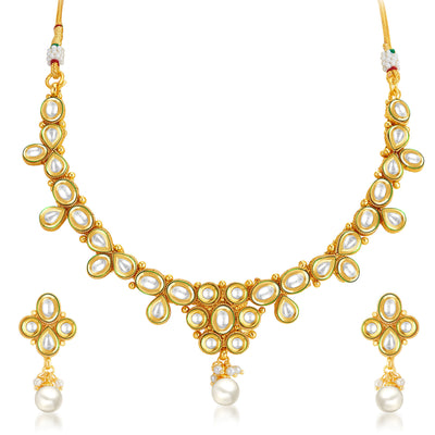 Sukkhi Marvellous Gold Plated Kundan Necklace Set-1